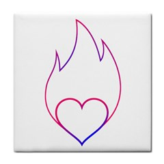 Heart Flame Logo Emblem Face Towel