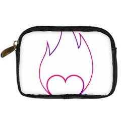 Heart Flame Logo Emblem Digital Camera Cases