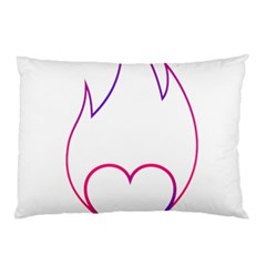 Heart Flame Logo Emblem Pillow Case (two Sides)