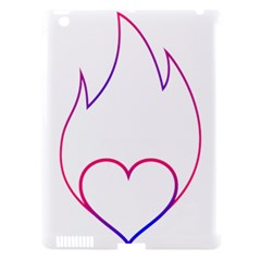 Heart Flame Logo Emblem Apple Ipad 3/4 Hardshell Case (compatible With Smart Cover)