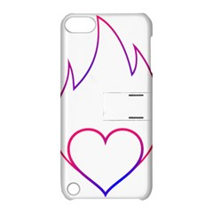 Heart Flame Logo Emblem Apple Ipod Touch 5 Hardshell Case With Stand