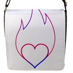 Heart Flame Logo Emblem Flap Messenger Bag (s)