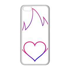 Heart Flame Logo Emblem Apple Iphone 5c Seamless Case (white)