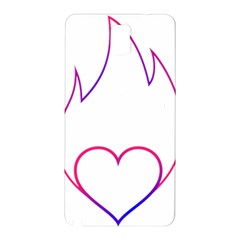 Heart Flame Logo Emblem Samsung Galaxy Note 3 N9005 Hardshell Back Case