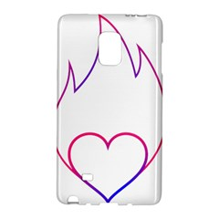Heart Flame Logo Emblem Galaxy Note Edge
