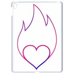 Heart Flame Logo Emblem Apple Ipad Pro 9 7   White Seamless Case