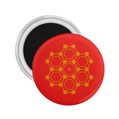Pentagon Cells Chemistry Yellow 2 25  Magnets