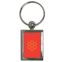 Pentagon Cells Chemistry Yellow Key Chains (rectangle)