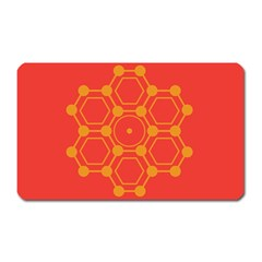 Pentagon Cells Chemistry Yellow Magnet (rectangular)