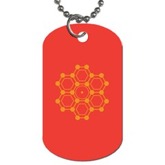 Pentagon Cells Chemistry Yellow Dog Tag (one Side)
