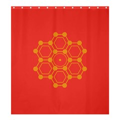 Pentagon Cells Chemistry Yellow Shower Curtain 66  X 72  (large)
