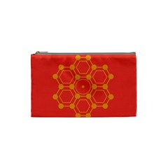 Pentagon Cells Chemistry Yellow Cosmetic Bag (small)