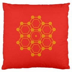 Pentagon Cells Chemistry Yellow Large Cushion Case (one Side)