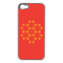 Pentagon Cells Chemistry Yellow Apple Iphone 5 Case (silver)