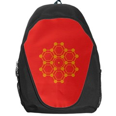 Pentagon Cells Chemistry Yellow Backpack Bag