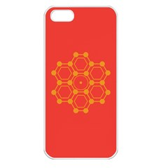 Pentagon Cells Chemistry Yellow Apple Iphone 5 Seamless Case (white)