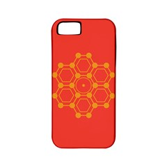 Pentagon Cells Chemistry Yellow Apple Iphone 5 Classic Hardshell Case (pc+silicone)