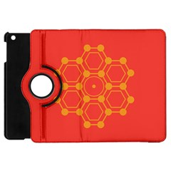 Pentagon Cells Chemistry Yellow Apple Ipad Mini Flip 360 Case