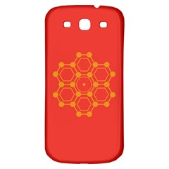 Pentagon Cells Chemistry Yellow Samsung Galaxy S3 S Iii Classic Hardshell Back Case