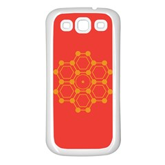 Pentagon Cells Chemistry Yellow Samsung Galaxy S3 Back Case (white)