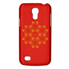 Pentagon Cells Chemistry Yellow Galaxy S4 Mini