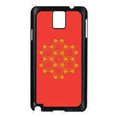 Pentagon Cells Chemistry Yellow Samsung Galaxy Note 3 N9005 Case (black)
