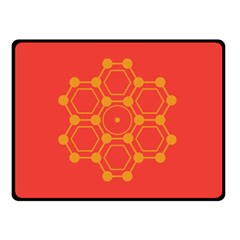Pentagon Cells Chemistry Yellow Double Sided Fleece Blanket (small)