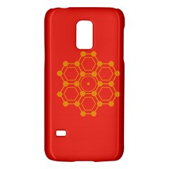 Pentagon Cells Chemistry Yellow Galaxy S5 Mini