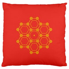 Pentagon Cells Chemistry Yellow Standard Flano Cushion Case (two Sides)