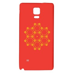 Pentagon Cells Chemistry Yellow Galaxy Note 4 Back Case