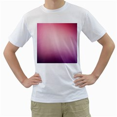 Background Blurry Template Pattern Men s T Shirt (white) (two Sided)