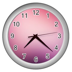 Background Blurry Template Pattern Wall Clocks (silver)