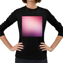 Background Blurry Template Pattern Women s Long Sleeve Dark T Shirts