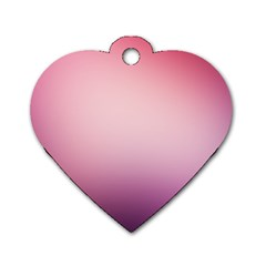 Background Blurry Template Pattern Dog Tag Heart (one Side)