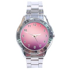 Background Blurry Template Pattern Stainless Steel Analogue Watch