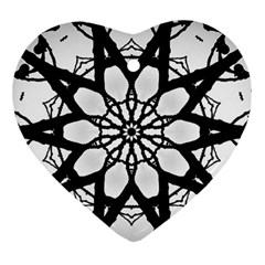Pattern Abstract Fractal Ornament (heart)