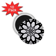 Pattern Abstract Fractal 1 75  Magnets (10 Pack)