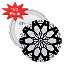 Pattern Abstract Fractal 2 25  Buttons (100 Pack)