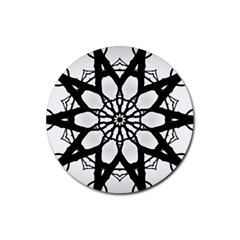 Pattern Abstract Fractal Rubber Coaster (round)