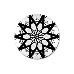 Pattern Abstract Fractal Magnet 3  (round)
