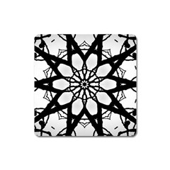 Pattern Abstract Fractal Square Magnet