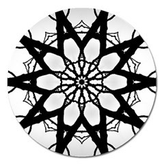 Pattern Abstract Fractal Magnet 5  (round)