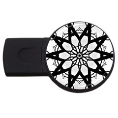 Pattern Abstract Fractal Usb Flash Drive Round (4 Gb)