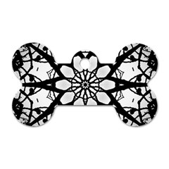 Pattern Abstract Fractal Dog Tag Bone (two Sides)