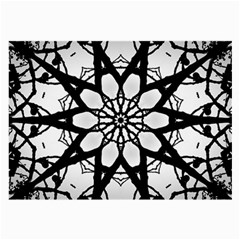 Pattern Abstract Fractal Large Glasses Cloth