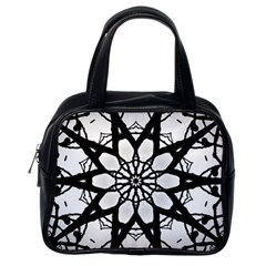 Pattern Abstract Fractal Classic Handbags (one Side)