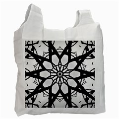 Pattern Abstract Fractal Recycle Bag (one Side)