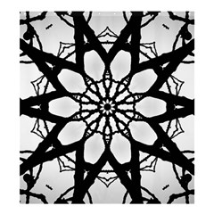 Pattern Abstract Fractal Shower Curtain 66  X 72  (large)