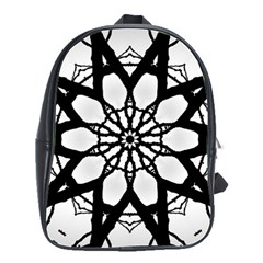 Pattern Abstract Fractal School Bags(large)