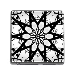 Pattern Abstract Fractal Memory Card Reader (square)